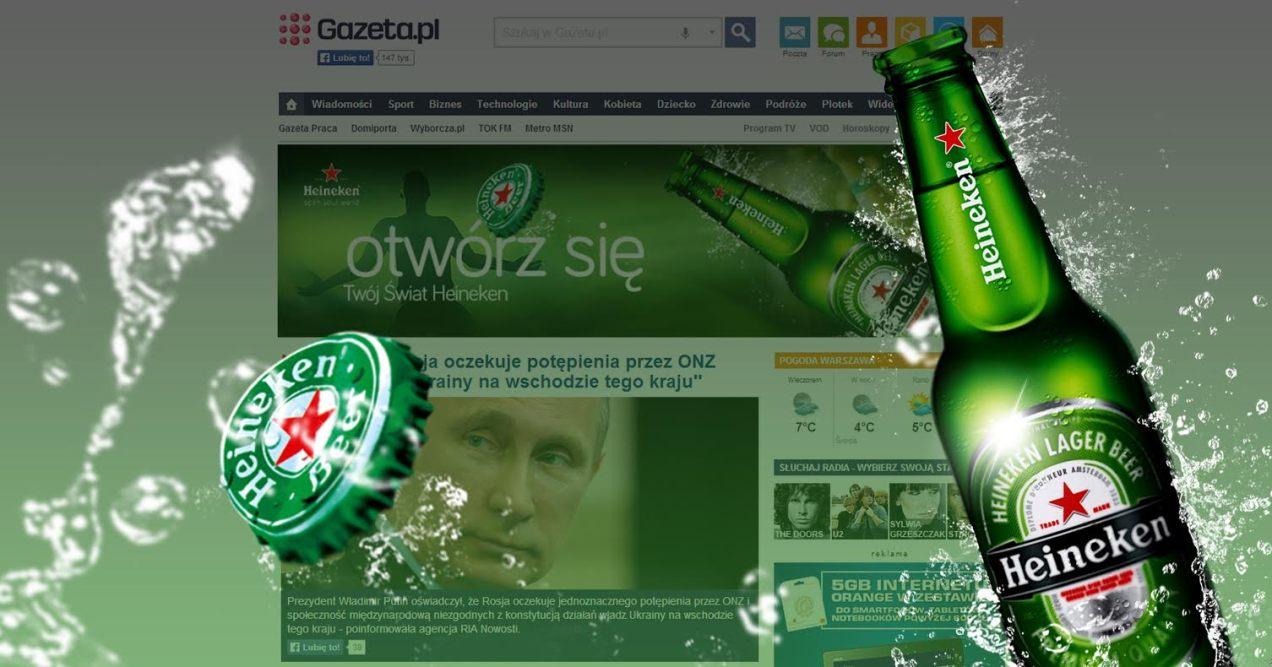haineken reklama design kreacja web design baner