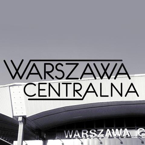 logotyp Warszawa Centralna grafika